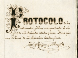 Protocol notarial
