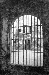 El pati interior de la presó del partit judicial de Sant Feliu.
