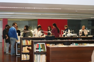 Visita d'estudiants universitaris